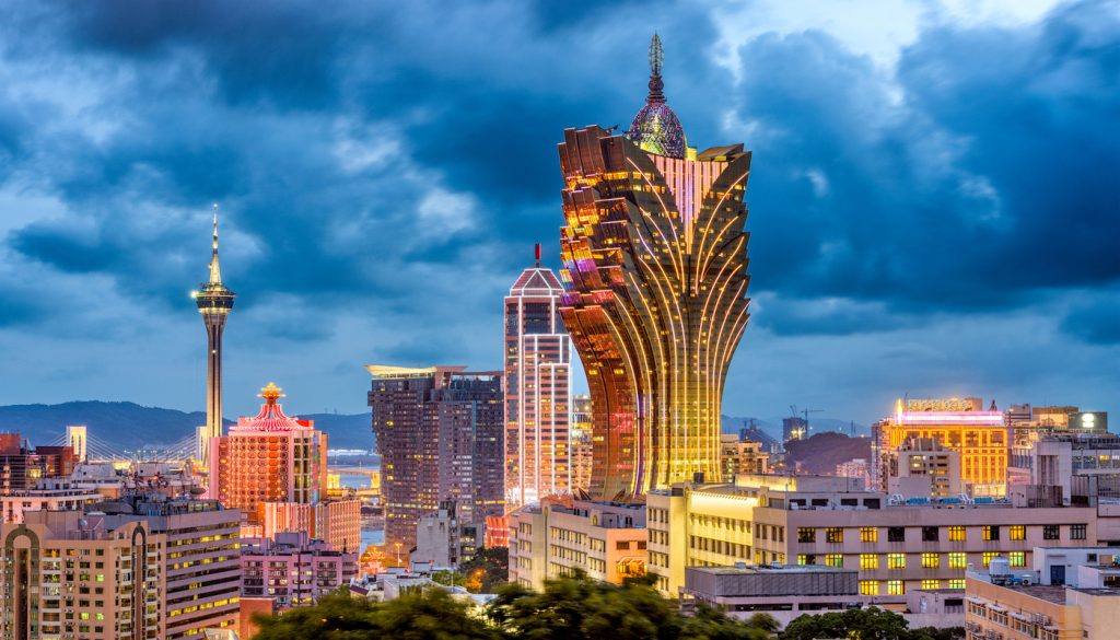 Macau, China city skyline